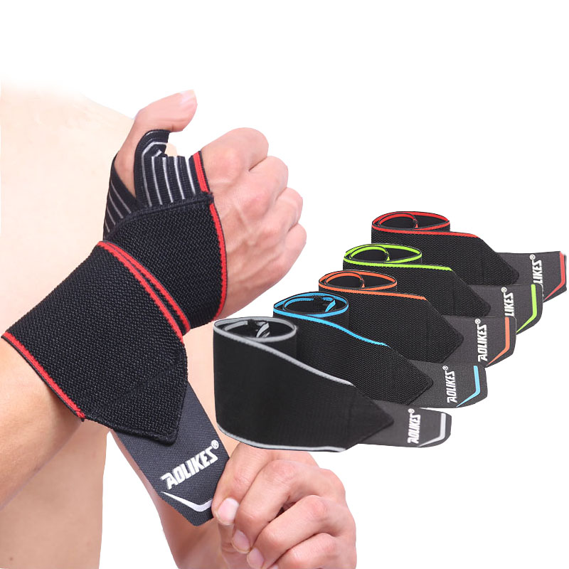 1Pcs Crossfit Fitness Wrist Wraps Straps Gym Gloves Weightlifting Sports Wristband Crossfit Wrist Bracer Support Hand Bands practical wrist strap fitness gym fitness strap hand peace fingers palm wrist protector dumbbells horizontal bar sports gloves