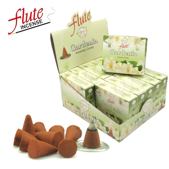 FLUTE 120 Cones Pack Gardenia Aroma Spice Incense Hand Rolled From Indian Light Fragrance