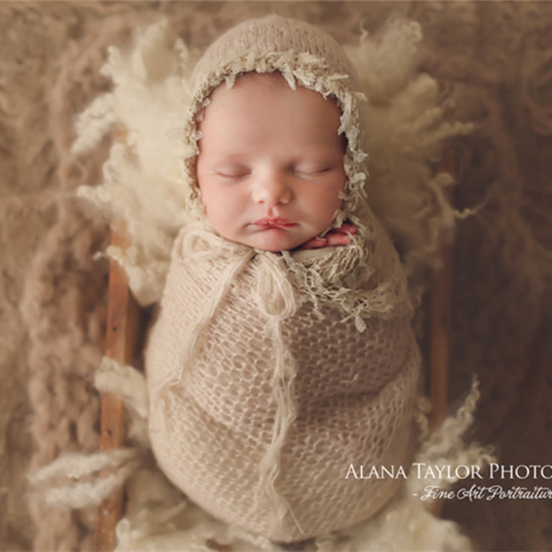 Premium Quality Newborn Baby Photography Props Wrap Soft Swaddling Wrap for Picture fast-shop
