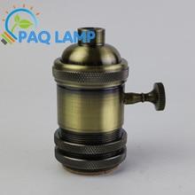 E27/E26 Aluminum Plating bronze Lamp holder electric light socket; lamp cap ;Lamp Bases ; adapter bronze color .knob switch