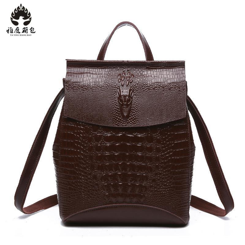 Women Backpack Genuine Leather School Bags For Teenagers Girl's Travel Bag Designer High Quality Famous Brand Backpacks Mochilas
