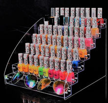 2/3/4/5/6/6/7 Tiers Jewelry Display Stand Holder Makeup Cosmetic Clear Acrylic Organizer Lipstick Nail Polish Rack(China)