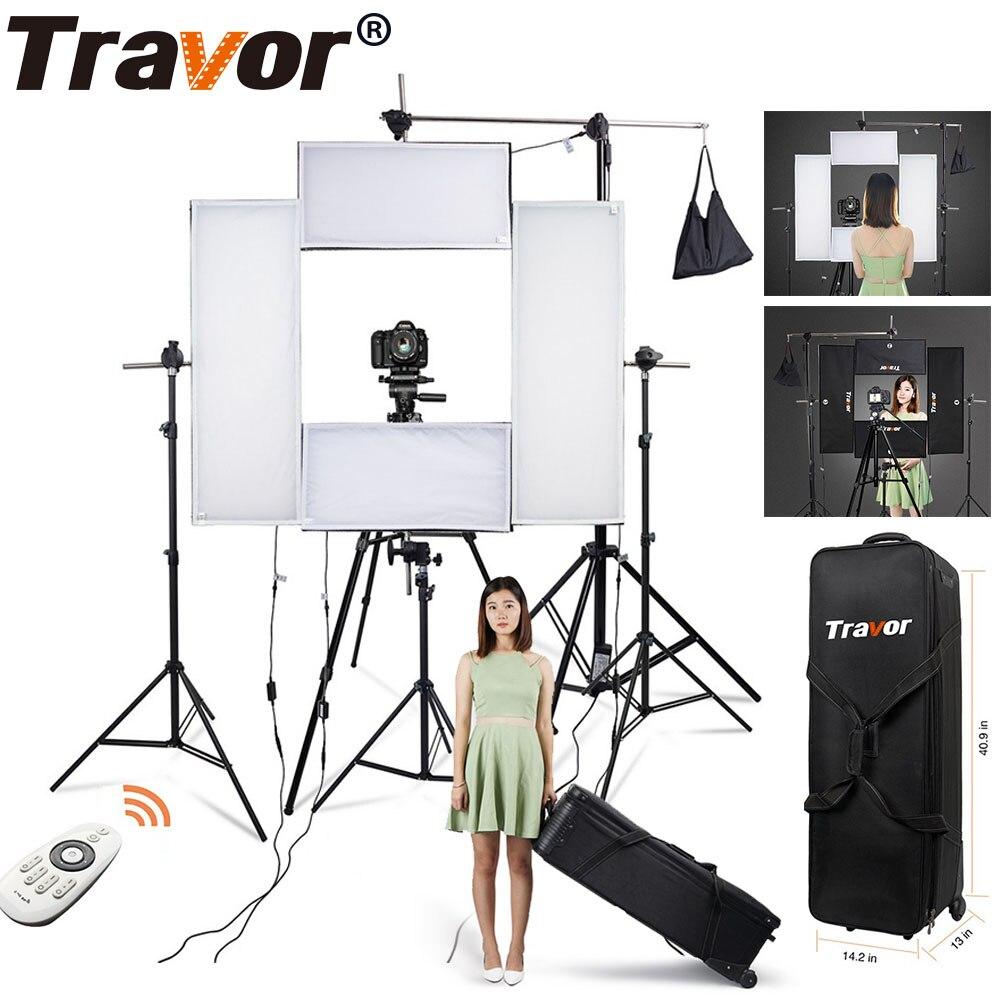 4 dans 1 Flex Headshot vidéo Lumière Kit dimmable photographie éclairage Grande Puissance 5500 K CRI95 avec 2.4G Sans Fil télécommande