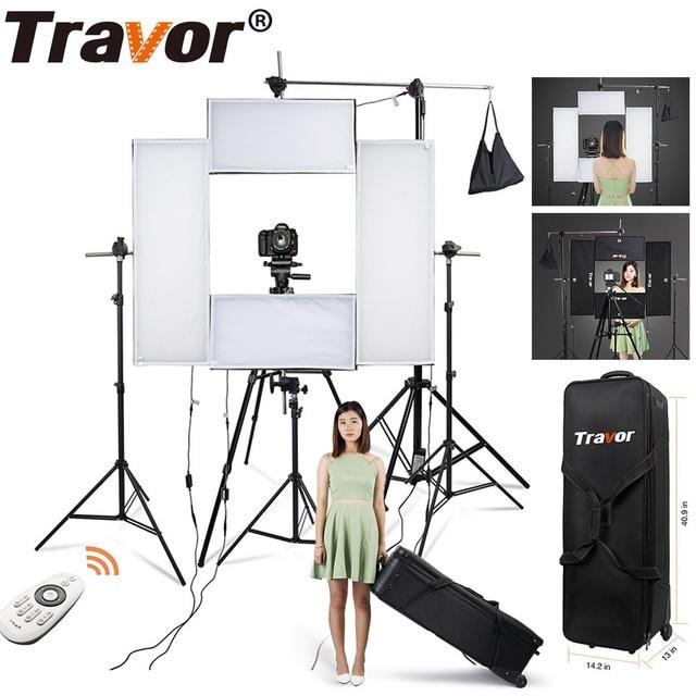 Travor להגמיש Headshot וידאו אור צילום תאורה ניתן לעמעום כוח גדול 100 W 5500 K CRI95 עם 2.4G אלחוטי מרחוק שליטה