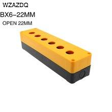 Bx6-22 button box six hole button box opening 22mm 6 hole waterproof box switch control box.