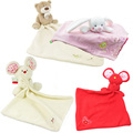 1pc Baby Comforter Toy Cute Cartoon Animal Mouse bear Soft Plush Rattle with Ring Bell Multifunctional Saliva towel Baby Care
