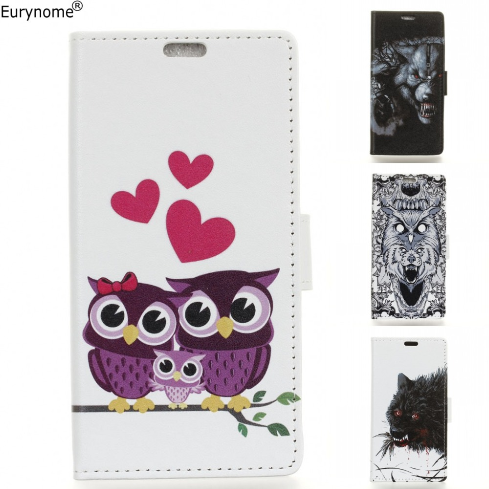 Cartoon Owl Animal Wolf wallet card Cover Leather stand case for Samsung Galaxy On5 2016 on 5 2016 G5700 G570F j5 prime case