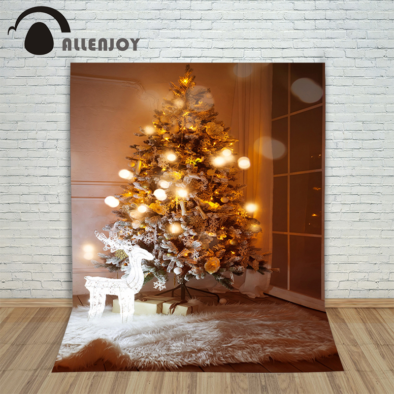 Allenjoy Christmas backdrop tree lights sparkle night professional backdrop pictures photocall backdrop for photography