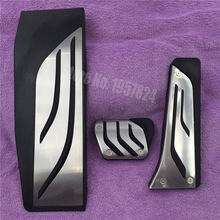 Gas Footrest Modify Pedal Plate Pad AT Accessory For BMW New 1 2 3 4 5 6 7 series GT X3 X4 X5 X6 Z4 F30 F31 F34 E70 E71 E72 F15
