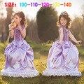 Хэллоуин ну вечеринку костюм принцесса софия платье фиолетовый детская одежда Vetement Enfant цветочное платье девушка Ropa де Ninas TZ20