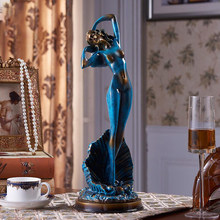 European Creative Resin Figurines Statues Mermaid Beauty Sculpture Home Furnishing Decoration Crafts Desktop Mascot Ornament Art(China)