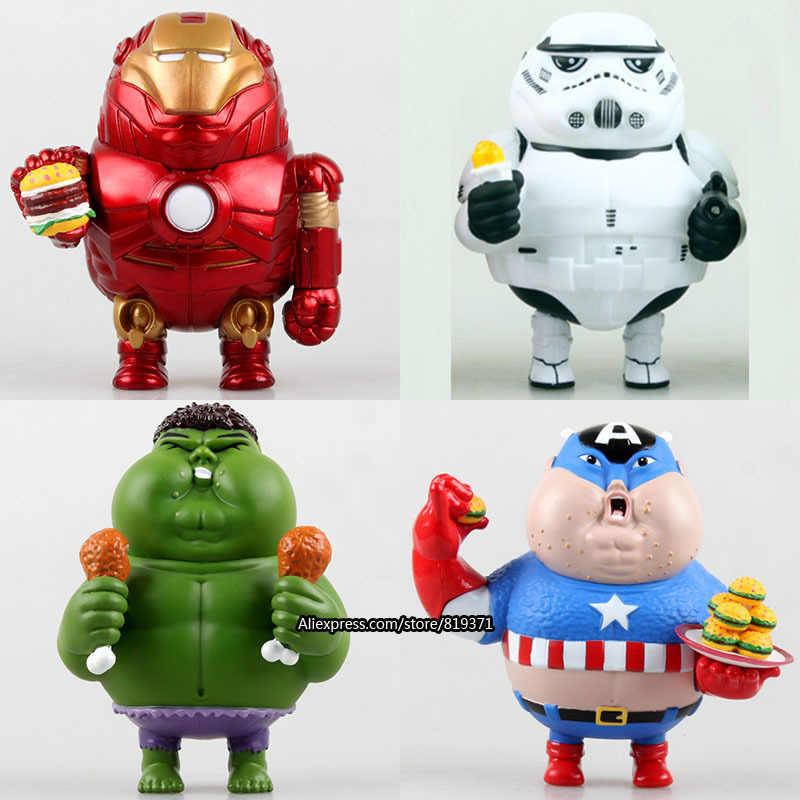 New Arrival Novidade Marvel Filme Figuras de Ação Brinquedos FCZ-6 Gordos Versão Vingadores 2 Capitão América Homem De Ferro Hulk