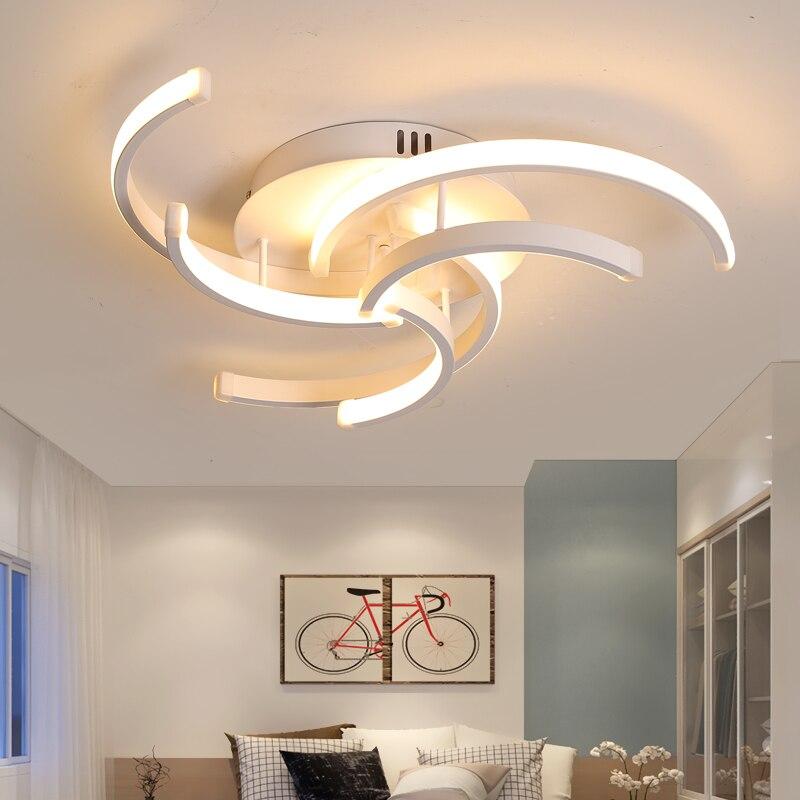 sala de estar quarto moderno led luzes teto para sala estar aluminio avize ac85 265v lamparas