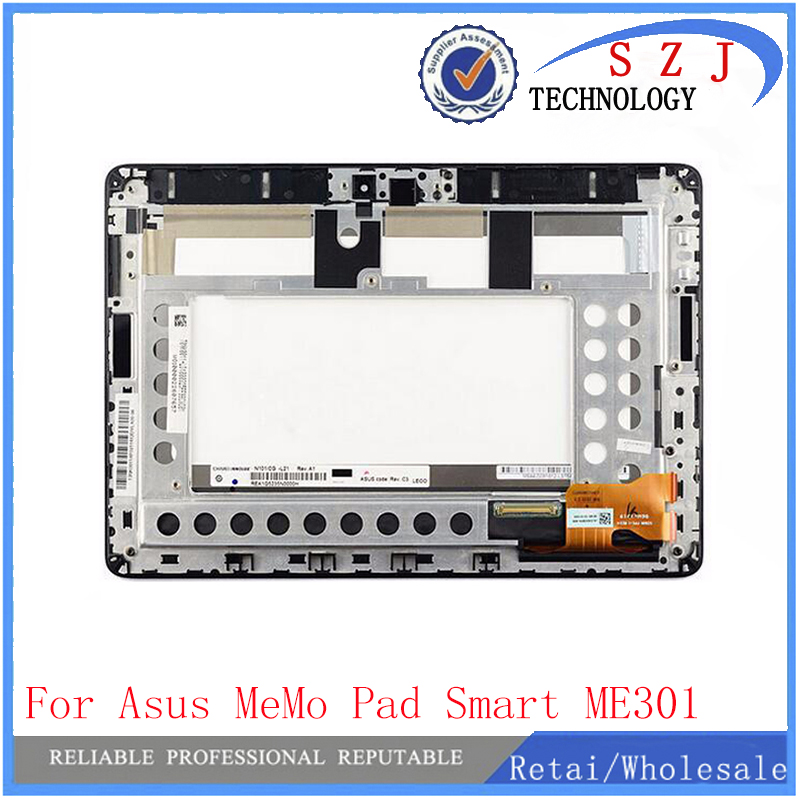 New 10.1'' inch Touch Screen Digitizer + LCD Screen Display with frame FOR ASUS Memo Pad Smart ME301 ME301T 5280N FPC-1 used parts lcd display glass panel touch screen digitizer assembly frame for asus memo pad smart 10 me301 me301t k001 5280n 8v