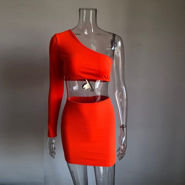 2 piece set women festival clothing two pieces sets sexy neon crop tops and skirt set co ord tracksuits matching sets 4