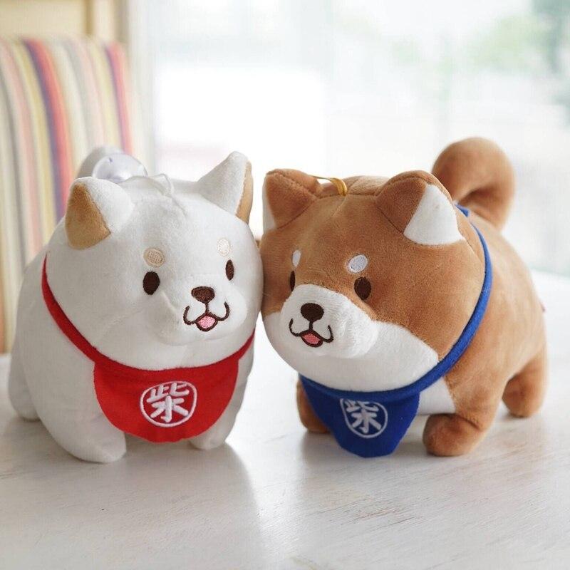 Candice guo plush toy stuffed doll cartoon animal Japan Shiba dog puppy small pendant baby birthday gift christmas present 1pc