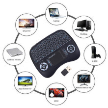 лучшая цена Backlight Wireless Mini Keyboard Backlit English Russian Spanish 2.4GHz Keyboard Air Mouse with battery Touchpad for Android box