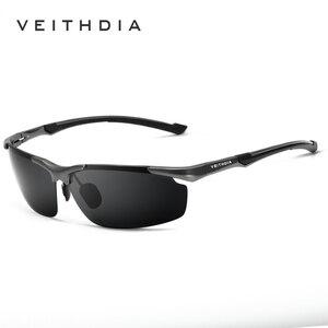 Image 2 - نظارة شمسية جديدة VEITHDIA مستقطبة للرجال من علامة تجارية مصممة للرجال نظارات شمسية كلاسيكية نظارة gafas oculos de sol masculino 6592
