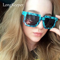 LongKeeper Minecraft Glasses 8 bit Pixel Women Men Sunglasses Novelty Mosaic Goggles Mosaic Sun Glasses Boys Girls 53