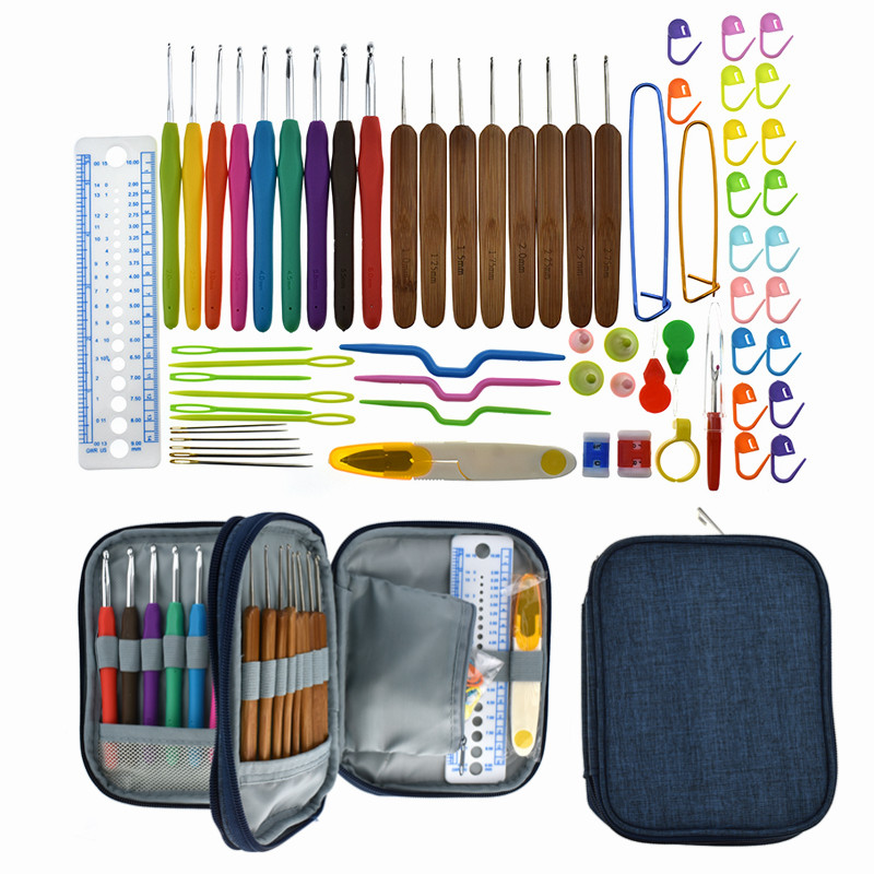 3 Styles Bamboo Crochet Hook Set Yarn Weave Knitting Hooks Needles Sewing Tools DIY Craft Tool Accessory Crochet Kit For Women in Sewing Tools Accessory from Home Garden