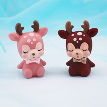 Sika budding pet deer home decoration birthday baking doll gift creative cake