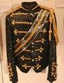 Paillette Hombres Cantantes Bailarín MJ Michael Jackson Lentejuelas Tribunal 4XL 5XL Ropa Chaqueta de Traje Ropa de la Etapa Trajes XS-5XL