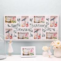 1SETD5 Fashion Family LOVE Letter Creative Portfolio Photo Wall Frame Plastic Siamese Frame Rose Carved Picture