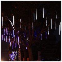 30 cm Hollow LED Meteorenregen Regen Buis Licht Outdoor Waterdichte Boom Decoratie Bruiloft lampen Slingers 1 set 8 Buizen groothandel