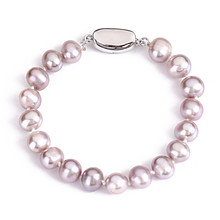 Dainashi Elegant Round Pearl Bracelet,High Quality Natural Freshwater Pearl Bracelet for Women Fine Silver Jewelry stylish multilayer faux pearl round lace bracelet for women