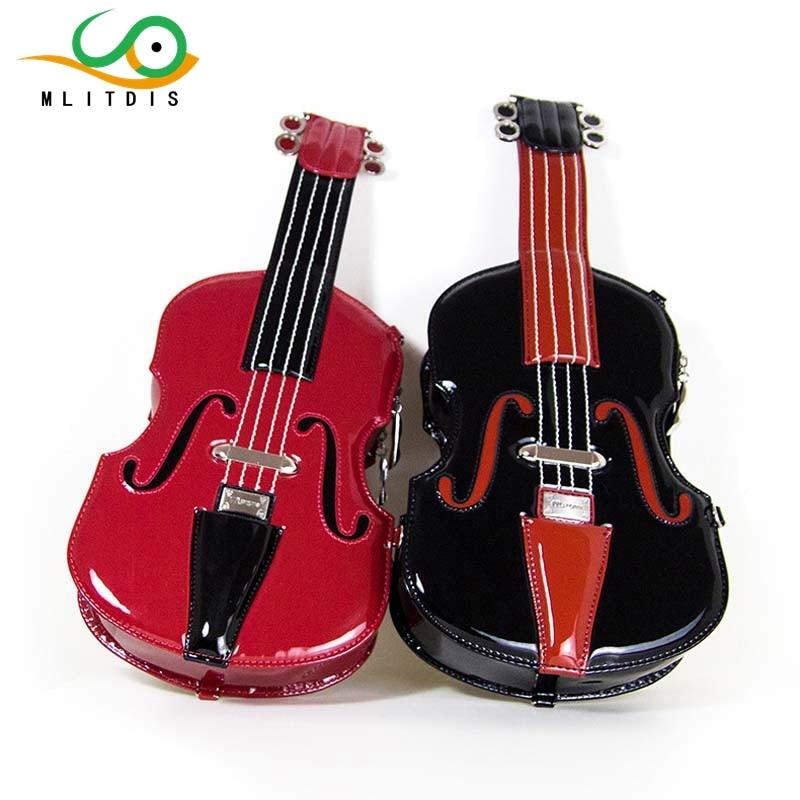 MLITDIS 2017 new stylish hand-crafted violins with the bag women's diagonal baodan shoulder  travel Creative Bags art e14 6w 180lm 2500k 16 x smd 5730 led warm white energy saving light bulb white ac 220 240v