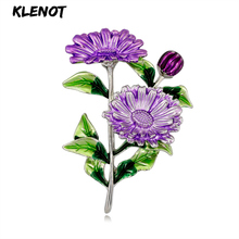 Romantic Plant Daisy Brooch Flower Bouquet Leaf Pin for Decoration Enamel Banquet Party Jewelry Valentines Day Gift