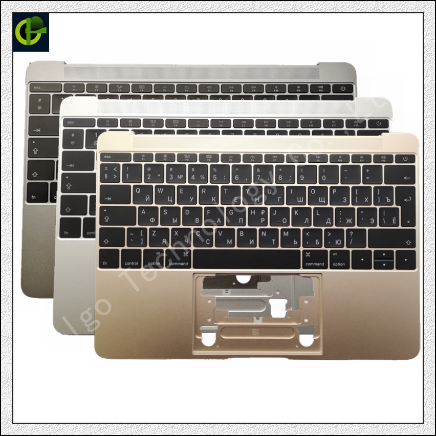 Russian Backlit Keyboard palmrest for Macbook Retina A1534 12 Year 2016 2017 with case topcase houseing box RU laptop notebook image
