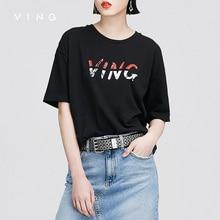 Ving Tumblr New Rushed Funny T-shirts Blusa Camisetas 2017 Summer Wommen Short Sleeve O-neck Loose Printed Joker Cotton T-shirt
