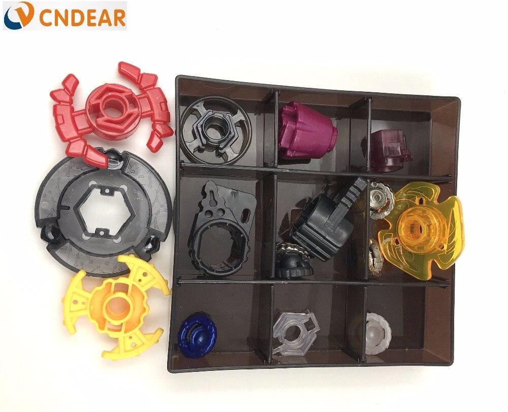 Livraison gratuite beyblade ensemble comme enfants jouets (plus que 20 pièces de rechange + 8 beyblades + 1 poignées + 2 lanceurs + beyblade boîte) - 6