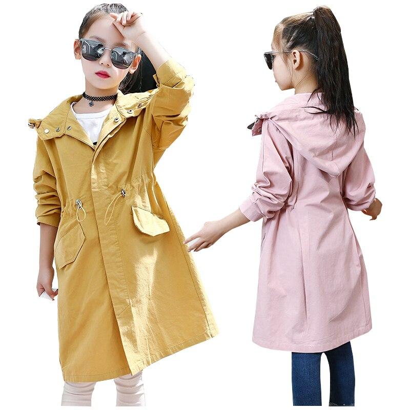 girl trench coat windbreaker kids outerwear spring autumn girls children's windbreaker jackets girls children's coats jackets