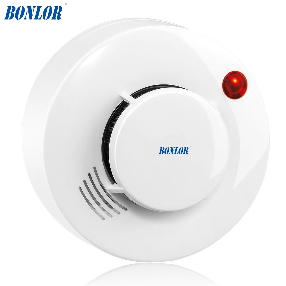 1 PCS CE Photoelectric Smoke Detector Sensor Wired Smoke Alarm Fire Alarm For Security Auto Dial Alarm System For Free Shipping