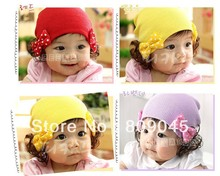 Winter warm knitted hats for boy girl kits hats infants caps beanine for chilldren Ear protection