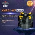 ZCC. CT высокая подача фрезы XMR01-WP высокая производительность токарный станок с ЧПУ Инструменты Индексируемые фрезерные инструменты