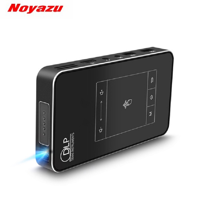 Noyazu Mini Portable Projecteurs Vidéo Projecteur 32g DLP Projecteur Android WiFi Bluetooth Sans Fil Beamer Home Cinéma Proyector