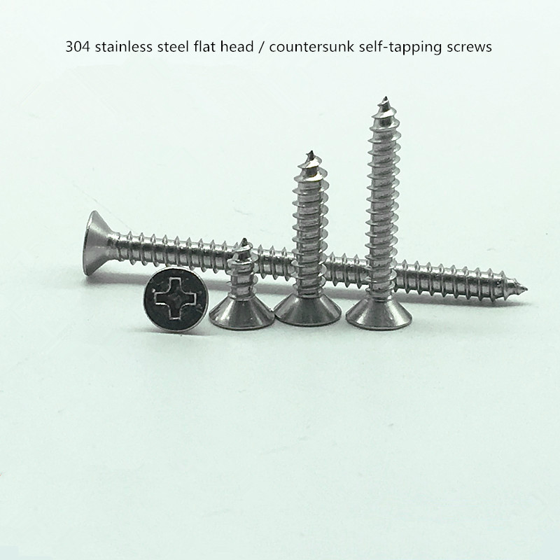 Free shipping 304 stainless steel flat/countersunk head tapping screws M1 M1.2 M1.4 M1.7 M2 M3 M4 M5.5 sarto reale костюм