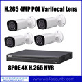 H.265 4K NVR 4MP POE Bullet IP Network Camera Dahua H.265 CCTV Surveillance System Kit