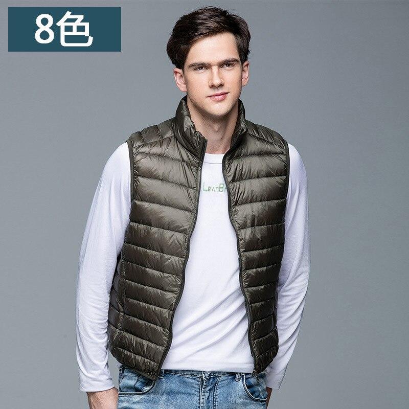 Men Winter Ultra Light Coat Duck Down Vest Gilet Sleeveless Jackets Waistcoat