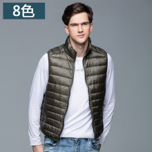 Фотография Duck Down Vest Men Ultra Light Double Sided Zipper Puff Gilet Casual Reversible Vests Jackets Sleeveless Waistcoat Jackets