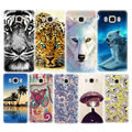 Pattern Phone Case For Samsung Galaxy A3 A5 A7 2016 J3 J5 J7 2016 S5 S6 edge S7 edge Grand Prime Flowers Painted Cover Shell