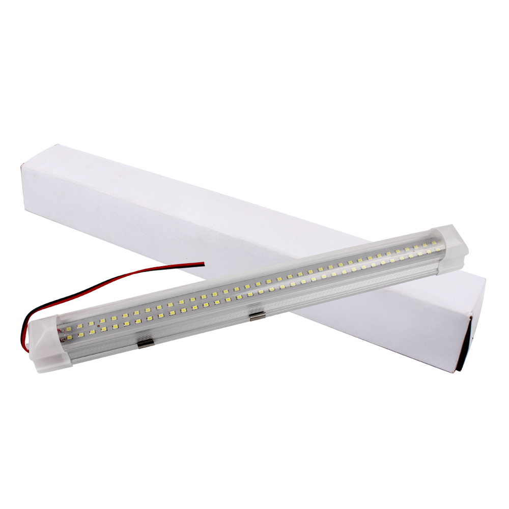 Car Interior Strip Lights Interior Caravan White Lamp Bar High Quality ON OFF Switch 72 LED Universal g126y 2pcs red led light 25 31mm spst 4pin on off boat rocker switch 16a 250v 20a 125v car dashboard home high quality cheaper