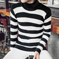 knitted winter sweater men brand S960 striped pullover slim fit mens turtleneck mens sweaters stylish pull homme