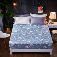 Quilted Fitted Sheet Cotton Mattress Cover Bed Sheet set With Elastic Height 30cm sabanas bedsheet drap de lit free shipping