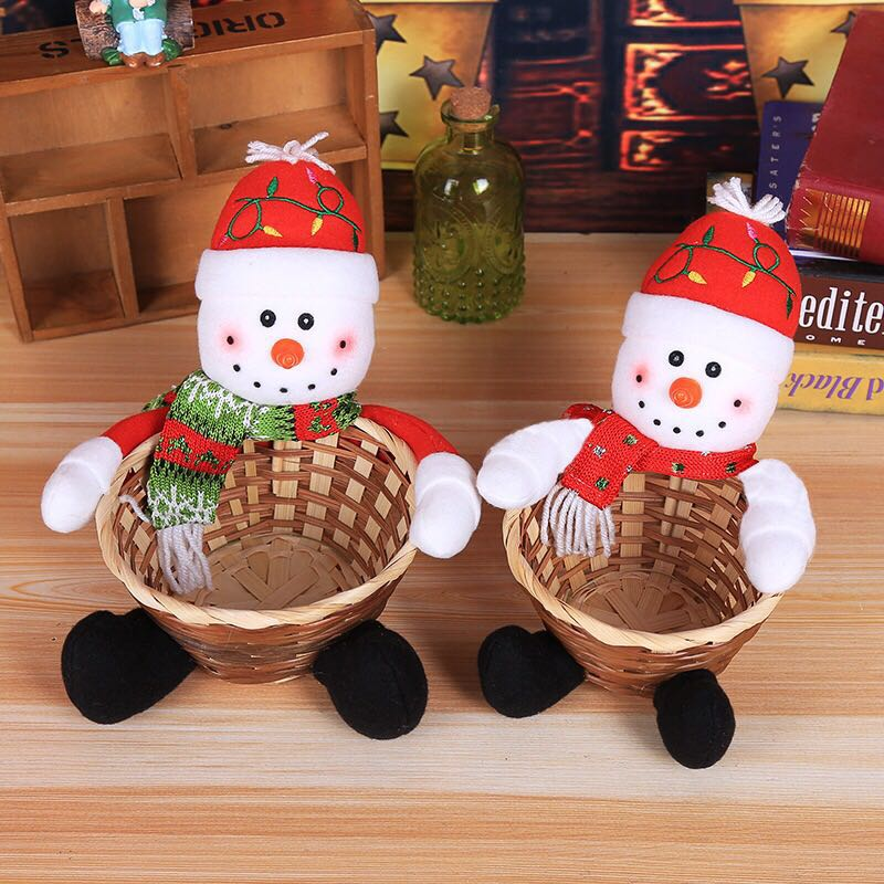 Emerra Christmas Decorative Candy Basket Christmas Table Display Children 39 s Candy Basket Christmas Decorative Large Candy Box in Pendant amp Drop Ornaments from Home amp Garden