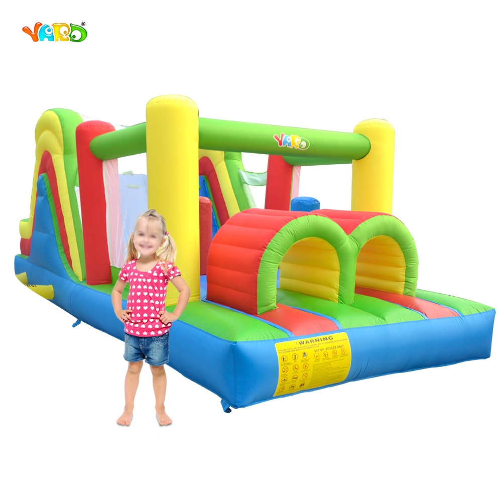 YARD Free Shipping In Stock Inflatable Bouncer Bouncy Castle Jumping Obstacle Course Combo yard free shipping bouncy dream castle inflatable jumper bouncer 6 in 1 all round obstacle combo for home use