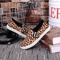 Otoño primavera Leopard print mujeres ocasionales Vulcanizan Los Zapatos de plataforma zapatos de lona baratos de china